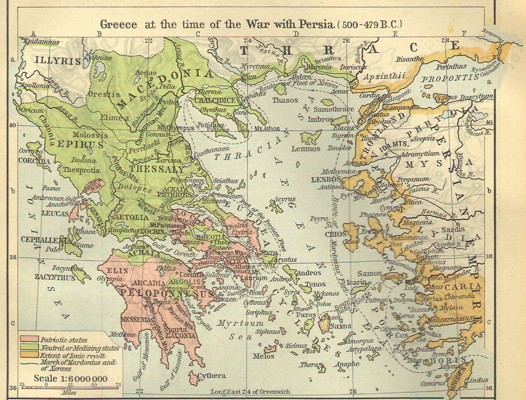 Maps of greece macedonian history greece at the time of war with persia 500 479 bc gumiabroncs Choice Image